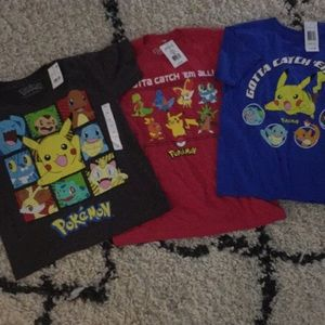 NWT bundle of Pokémon little boys t-shirts